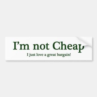 Eu não sou barato adesivo para carro