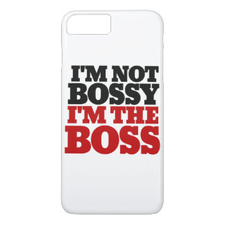 Eu não sou bossy mim sou o chefe capa iPhone 7 plus