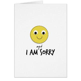 Eu não sou cartões pesarosos