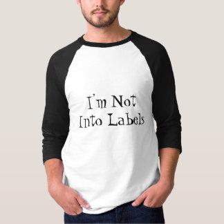 Eu não sou em etiquetas camiseta