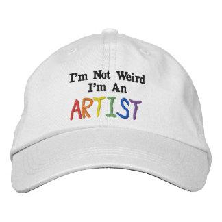 Eu não sou estranho, mim sou um artista boné bordado
