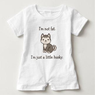 Eu não sou gordo. Eu sou apenas um rouco pequeno. Macacão Para Bebê