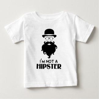 Eu não sou hipster camiseta para bebê