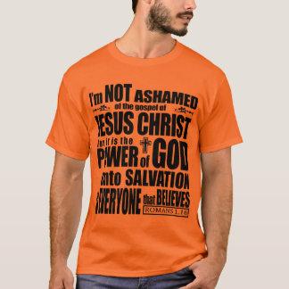 Eu não sou humilhado do evangelho camiseta