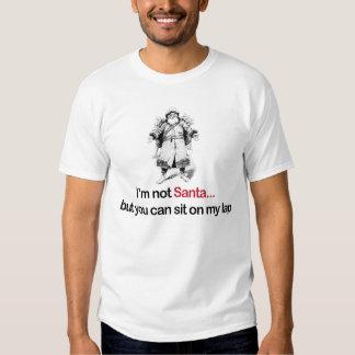 Eu não sou papai noel mas você pode sentar-se em tshirts