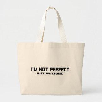 Eu não sou perfeito bolsa para compras