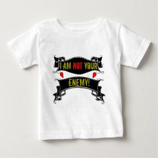 Eu não sou seu inimigo camiseta para bebê