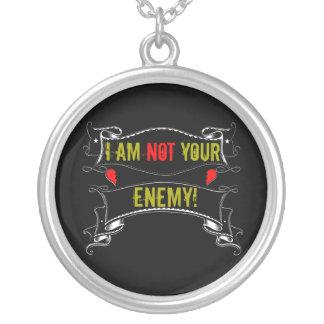 Eu não sou seu inimigo colar banhado a prata