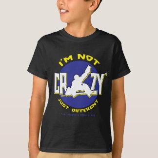 Eu não sou t-shirt louco do Goalie do hóquei Camiseta