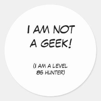 Eu não sou um geek! adesivo