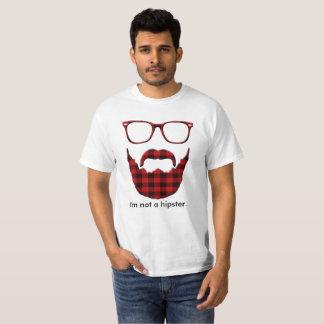 Eu não sou um hipster. camiseta