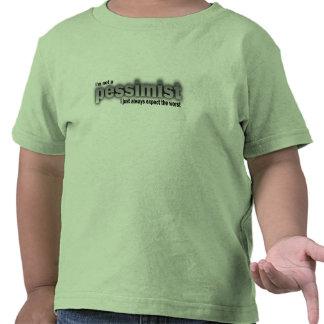 Eu não sou um pessimista, mim apenas espero sempre tshirt