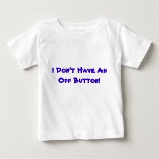 Eu não tenho fora um botão! - T-shirt infantil Camiseta Para Bebê