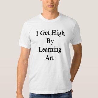 Eu obtenho alto aprendendo a arte t-shirt