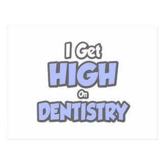 Eu obtenho alto na odontologia cartões postais