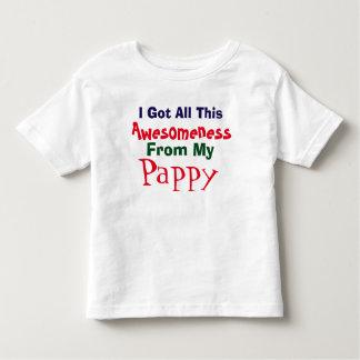 Eu obtenho meu Awesomeness de meu t-shirt de Pappy Camiseta Infantil