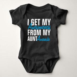Eu obtenho meu Awesomeness de minha tia (tia Nome) Body Para Bebê