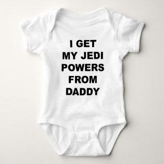 Eu obtenho meus poderes de Jedi do pai Body Para Bebê