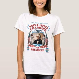 """""""Eu obtive o bebado e votei Fillmore!"""" A camisa"""