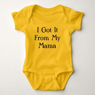 Eu obtive-o de meu bodysuit engraçado do bebê do body para bebê