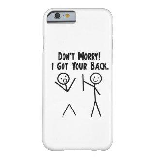 Eu obtive seu caso traseiro do iPhone 6 Capa Barely There Para iPhone 6