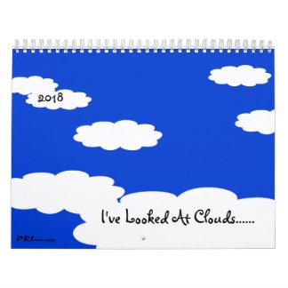 Eu olhei o calendário das nuvens 2018