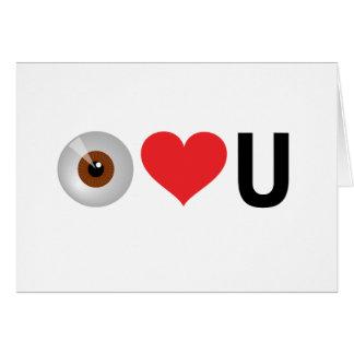 Eu (olho) amo-o em termos inequívocos cartão