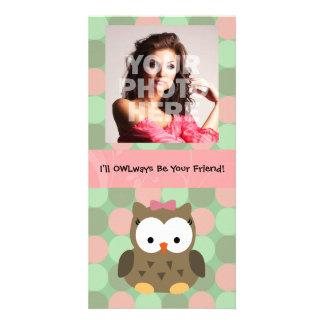 Eu OWLways serei seu amigo Cartao Com Fotos