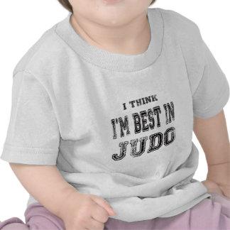 Eu penso que eu sou o melhor no judo camisetas