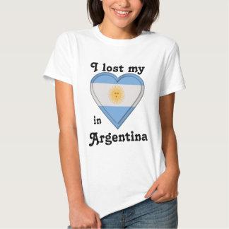 Eu perdi meu coração em Argentina T-shirt