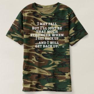 Eu posso cair… o T dos homens do camo Camiseta