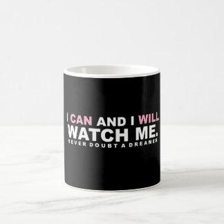 """""""Eu posso & eu"""" caneca de café"""