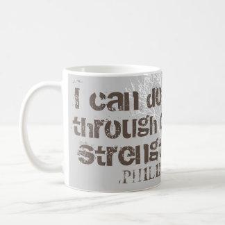 Eu posso fazer toda a escritura cristã dos homens caneca de café