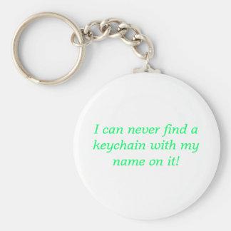 Eu posso nunca encontrar um chaveiro com meu nome