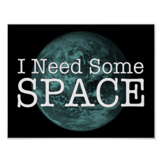 Eu preciso algum poster da parede do espaço