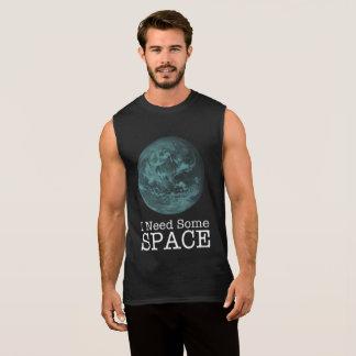 Eu preciso alguma camisa sem mangas do espaço
