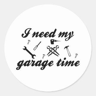 Eu preciso meu tempo da garagem adesivo