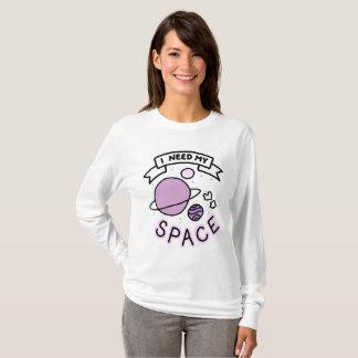 Eu preciso minha camisa longa da luva do espaço