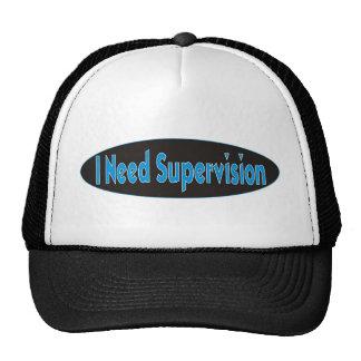 Eu preciso o design da supervisão boné