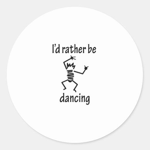 Eu preferencialmente estaria dançando adesivos em formato redondos