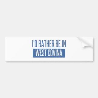 Eu preferencialmente estaria em Covina ocidental Adesivo Para Carro