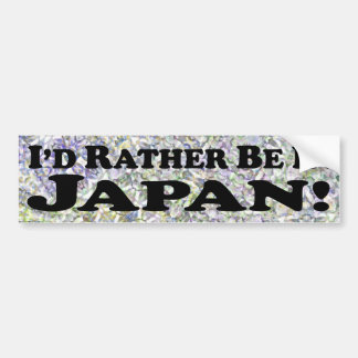 Eu preferencialmente estaria em Japão - autocolant Adesivo Para Carro