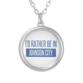 Eu preferencialmente estaria em Johnson City Colar Banhado A Prata