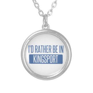 Eu preferencialmente estaria em Kingsport Colar Banhado A Prata