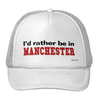 Eu preferencialmente estaria em Manchester Boné
