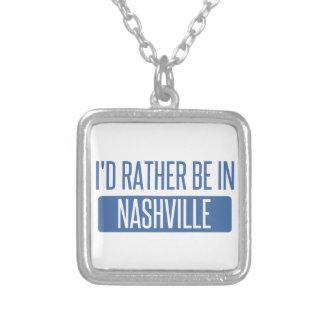 Eu preferencialmente estaria em Nashville Colar Banhado A Prata