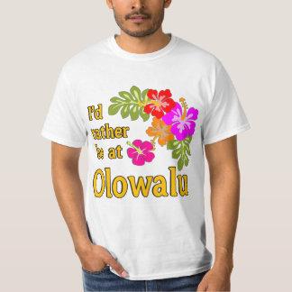 Eu preferencialmente estaria em Olowalu Havaí Camiseta