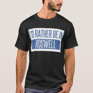 Eu preferencialmente estaria em Roswell nanômetro Camiseta