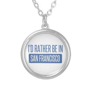 Eu preferencialmente estaria em San Francisco Colar Banhado A Prata