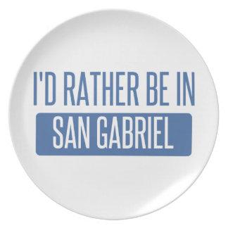 Eu preferencialmente estaria em San Gabriel Prato De Festa
